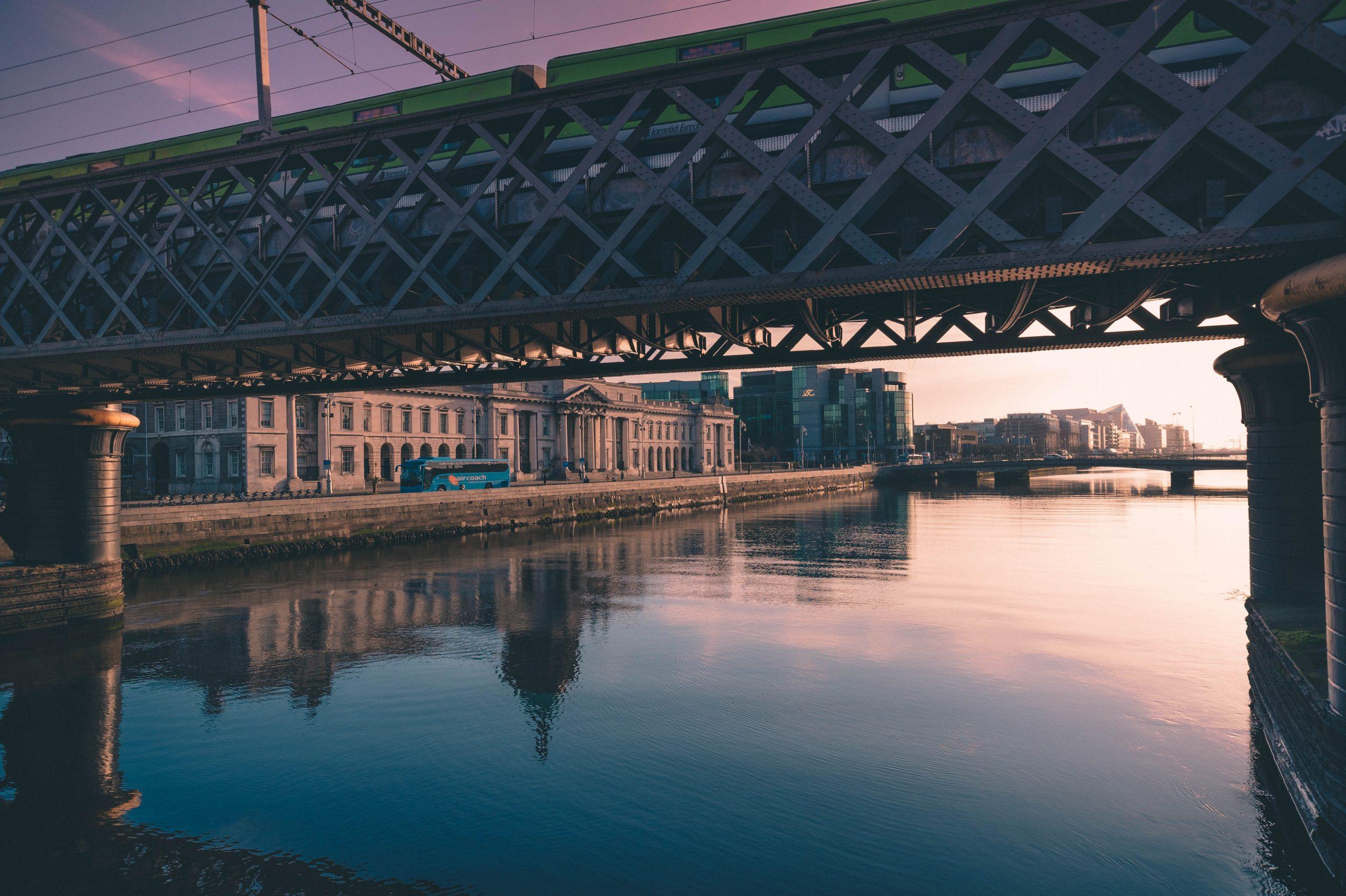 bridge tara station sunny dublin